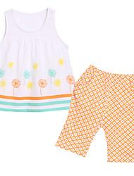 Girl's Clothing Set,Cotton Summer White