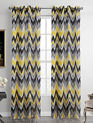 One Panel Modern Stripe Multi-color Living Room Polyester Sheer Curtains Shades 52 inch Per Panel