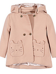 Girl's Pink Jacket & Coat,Cartoon Cotton Winter