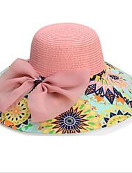 Unisex Sombrero de Paja Vintage / Bonito / Fiesta / Trabajo / Casual-Primavera / Verano / Otoño / Invierno / Todas las Temporadas-Lienzo