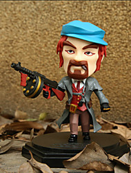 Animation Project Doll Lol Law Model Male Hero Fanatics Gun 1PC 14cm