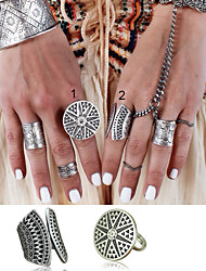 Women's / Unisex Alloy Ring Non Stone Alloy  2 Pieces