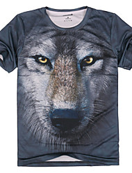 Breathable Cotton Animal Pattern T-shirt for Hunting/Hiking/Fishing