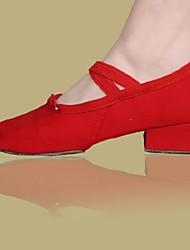 Non Customizable Women's Dance Shoes Satin Satin Ballet Flats Flat HeelPerformance / Practice / Beginner / Professional / Indoor /