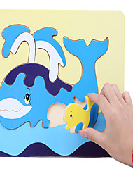 Puzzle Toys Wooden Animals Puzzle Board Whale Mother And Child