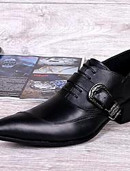 Sapatos Masculinos Oxfords Preto Couro Casamento / Escritório & Trabalho / Festas & Noite