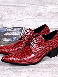Men's Shoes Amir Limited Edition Red Grid Lines Stage Showing Wedding/Party Comfort Cowhide Leather Oxfords