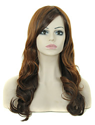 Popular Lady High-temperature Sexy Brown Color Long Synthetic Hair