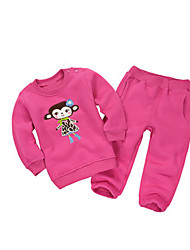 Girl's Red Clothing Set Cotton Winter