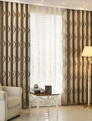 Two Panel Europe Contracted Fashion Style Of Children Room Sitting Room Bedroom Stripe Jacquard Curtains