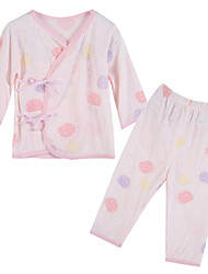 Girl's Clothing Set,Cotton Summer / Spring Pink / Yellow