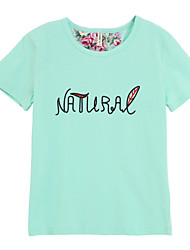 Girl's Tee,Cotton Summer Blue