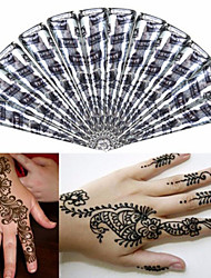 12 * Black* Herbal Henna Cones Temporary Tattoo kit Body Art Mehandi Ink Hina
