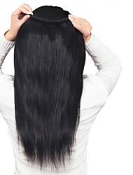 """venda quente 8 """"-26"""" brasileiras do cabelo virgem reta extensões de cabelo humano cor natural preto madeixas de cabelo humano."""