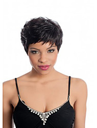 Top Quality Black 1B Color Short Straight Ladies' Synthetic Wigs Hair