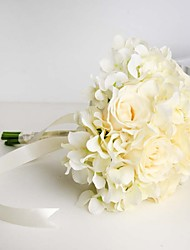 Artificial Wedding Flowers Whtie Roses and Hydrangea Bouquets