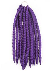 "X-TRESS Collection Crochet Mambo Twist Braid 2X Split Strand Kanekalon Fibers Flame Retardant 14"" #1 Braiding Hair Extension"