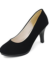 Women's Shoes Synthetic Chunky Heel Heels Heels Office & Career Black