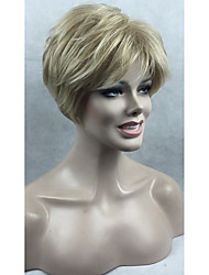 Women Lady Short Synthetic Hair Wigs Blonde Tip With Dark Blonde Mix