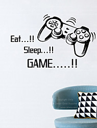 4045 eat sleep game home decoration minecraft wall sticker removable vinyl house decor game decals
