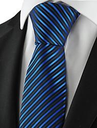 New Striped Blue Black Golden Men Tie Necktie Formal Wedding Holiday Gift KT1049