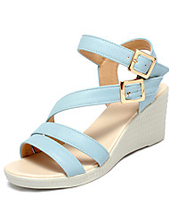 Women's Shoes Leatherette Wedge Heel Wedges / Platform / Slingback / Gladiator / Comfort / Novelty / Ankle Strap / Round
