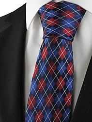 Diamond Pattern Red Blue Black Mens Tie Formal Suit Necktie Wedding Gift KT1060