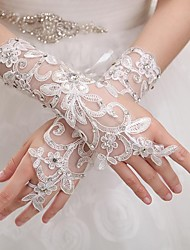 Wrist Length Fingerless Glove Tulle Bridal Gloves Party/ Evening Gloves Spring Summer Fall Winter lace