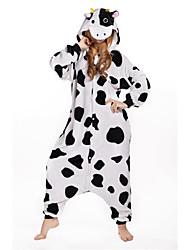 Kigurumi Pijamas nueva Cosplay® Vaca lechera Leotardo/Pijama Mono Festival/Celebración Ropa de Noche de los Animales Halloween Blanco