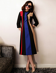 VERRAGEE 2016 in The Spring Of The New Product Contrast Color Dress