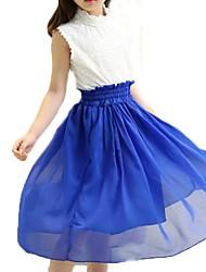 Girl's Blue / Green / Red / Yellow Dress,Dresswear Cotton Summer