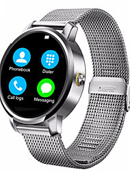 Lincass Bluetooth Smart Watch Metal Frame SMS Notification Phone Calls Music Play Pedometer for Android IOS Smartphones