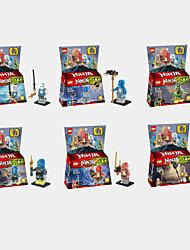 6Pcs Teenage Mutant Phantom Ninja Skylark Minifigures Building Blocks Action Figure Toys Bricks Kids Educational Toys