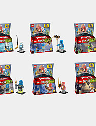 6stk teenage mutant phantom ninja Skylark minifigurer byggesten handling figur legetøj mursten børn pædagogisk legetøj