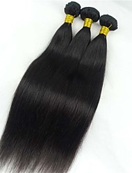 1Pcs 50g 8-26inch Brazilian Virgin Hair Straight Hair Natural Black Color ,Cheap Brazilian Hair Raw Human Hair Weaves.