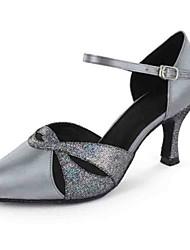 Women's Dance Shoes Leatherette Leatherette Latin Sandals Heel Practice Beginner Professional Indoor Performance Customizable