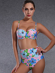 Femme Licou Bikinis Fleur,Nylon Fleurs