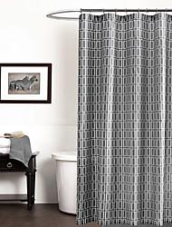 Modern Simple Grey Geometric Shower Curtain 71x72inch,71x79inch