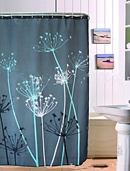 "Modern Dandelion Polyester Shower Curtains W71""×L71"""