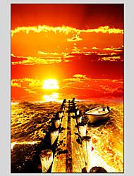 Seestück Segeltuchmaterial Ölgemälde mit gestreckten Rahmen bereit Größe zu hängen 90 * 60cm