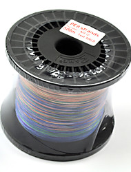 500M / 550 Yards Ligne tissée PE / Dyneema Multicolore 100LB 0.6 mm PourPêche en mer / Pêche à la mouche / Pêche d'appât / Pêche aux