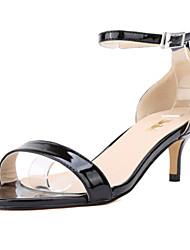 Women's Shoes Leatherette Stiletto Heel Heels / Open Toe Sandals Office & Career / Dress / CasualBlack / Green / Pink /