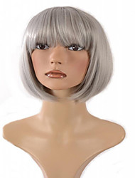 Fashion Cheap Grey Color Short Cosplay Synthetic Wig