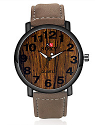 SOXY® High Quality Precise Business Fashion Gold Plate PU Leather Strape Watch with Exquisite Quartz Watch for Men Wrist Watch Cool Watch Unique Watch