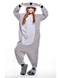 Kigurumi Pijamas Koala Leotardo/Pijama Mono Festival/Celebración Ropa de Noche de los Animales Halloween Gris Retazos Lana Polar Kigurumi