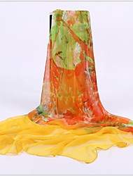Factory Ms. Spring And Autumn Long Section Of Chiffon Scarves Beach Towel Sunscreen Shawl Scarf