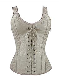 Shaperdiva Women's Gothic Corset Top with Strap for Waist Training