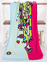 Fashion Beach Girl Beach Towel,27.5 by 55 inch
