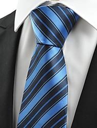 New Striped Dark Blue JACQUARD Mens Tie Formal Necktie Wedding Holiday Gift#0016