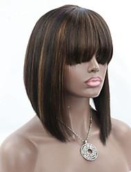 surbrillance joywigs couleur # 1b / 30 perruques de raccourci de bob avec les cheveux de bébé sans colle vierge brazilian perruques de